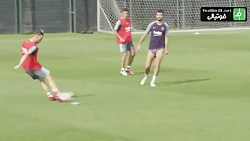تمرینات بارسلونا قبل از سوپرکاپ