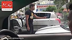 دعوای خیابانی راننده عصبانی به زیر گرفتن عمدی وی ختم شد