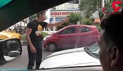 یک راننده بعد از درگیری خیابانی مردی را زیر گرفت
