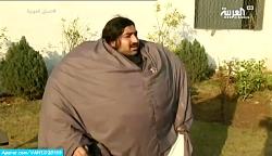 مرد عجیب پاکستانی با وزن 440 کیلوگرم!