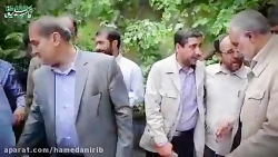 فیلم حضور سردار سلیمانی در منزل خانواده شهدا در همدان