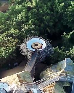 هتلی به شکل آشیانه پرندگان در مکزیک