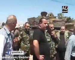 تسلیم تانک و خودروهای نظامی به ارتش سوریه توسط تروریست های جبهه النصره در قنیطره