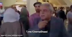 حضور محمد علیزاده در اکران خصوصی فیلم راه رفتن روی سیم