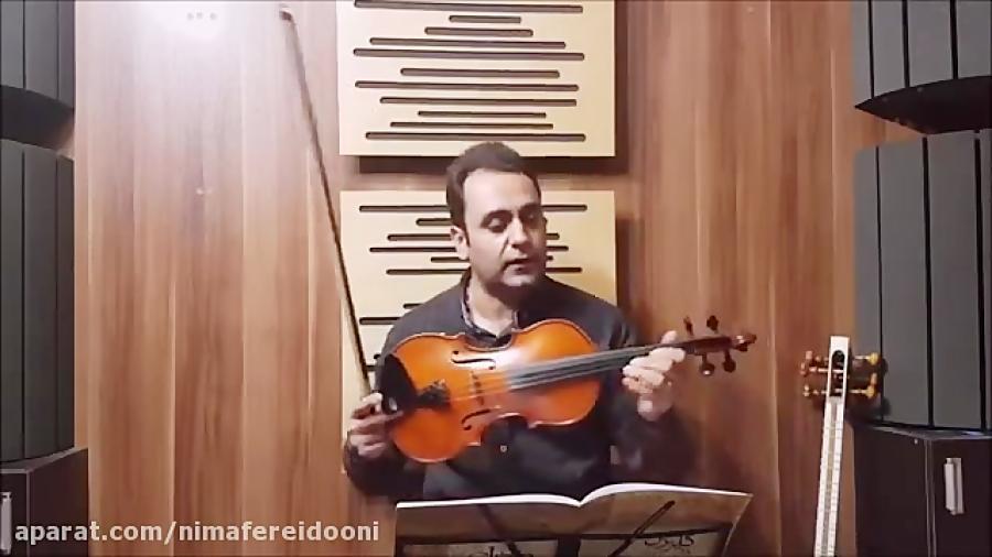 فیلم آموزش بداههنوازی با آهنگ بیژن مرتضوی تکنیکها ایمان ملکی ویولن