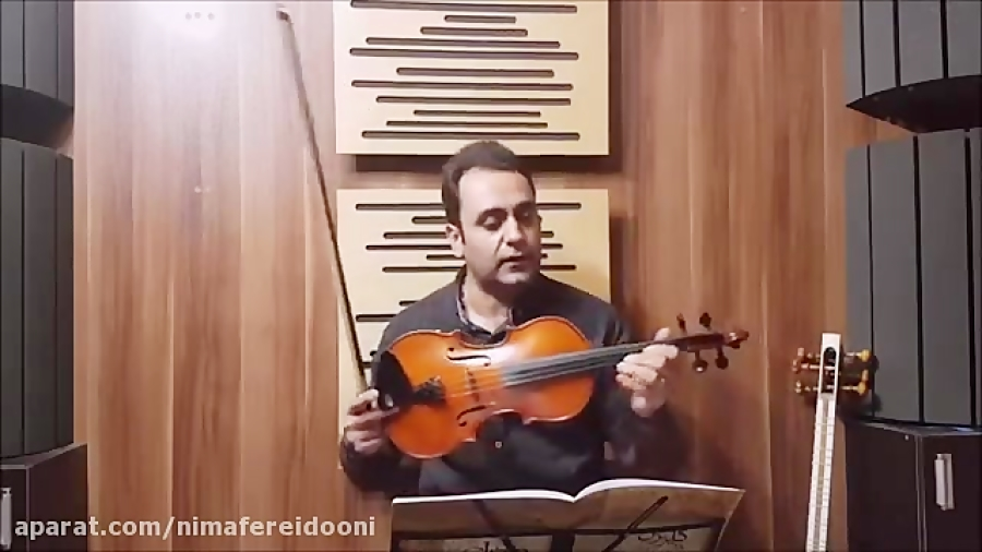 دانلود تمرین ۱ کتاب اول هنرستان ویولن روح الله خالقی ایمان ملکی