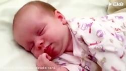 خواب نوزاد یک ماهه
