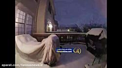 فیلم سریع از بارش برف د...