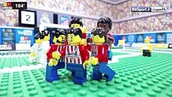 شبیه سازی بازی رئال مادرید - اتلتیکو مادرید با لگو