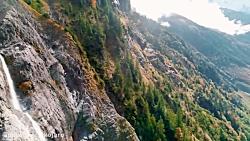 طبیعت سوئیس از فراز آسمان