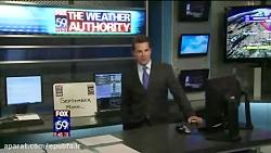 سوتی عنکبوت در  پخش زنده اخبار هواشناسی