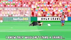 انیمیشن باخت رئال مادرید به اتلتیکو مادرید