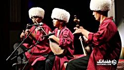 دوتار و آواز باستانی ترکمنی با ساز و آواز ایمان عطا، هنرمند خردسال گنبد کاووسی