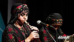 صدایی از دل تاریخ کردستان؛ نوای نرمه نای مژگان سیدی در جشنواره موسیقی جوان