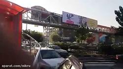 پل عابر پیاده حبیب الهی در خیابان آزادی
