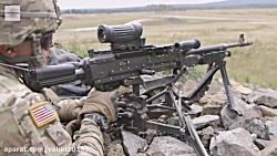 شلیک با اسلحه رگباری و قدرتمند M240L Machine Gun
