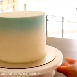 آموزش دیزارین و تزیین کیک در 1 دقیقه