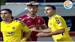 خلاصه بازی سپاهان 2-2 تر...