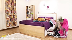 تخت خواب کشودار مدل رادین