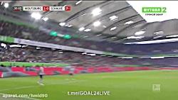 خلاصه بازی وولفسبورگ 2 - 1 شالکه