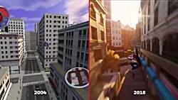 مقایسه بازی (Spider-Man 2 (2004 و (Spider-Man (2018