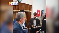 برخورد عجیب علی مطهری و یک منتقد!!