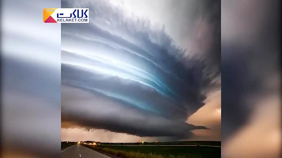 تصاویری حیرت انگیز از یک طوفان تابستانی در آمریکا