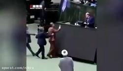 فیلم جدید از درگیری دو نماینده مجلس