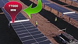 تمیز کردن پنل های خورشیدی با ربات ها