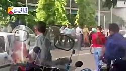 اولین تصاویر از خودسوزی مقابل شهرداری تهران!