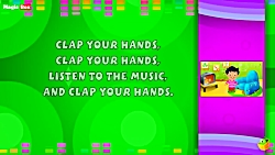 Clap Your Hands - Karaoke Version With Lyrics - Cartoon Animated English Nursery