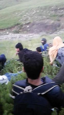 راه قاچاقی ایران وترکی...