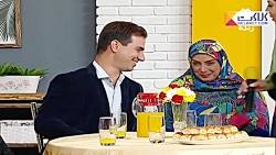 درخواست مجری برای بوسیدن همسر در برنامه زنده