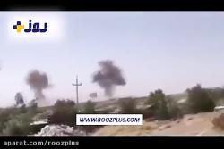 لحظه اصابت موشک سپاه پاسداران به کردستان عراق
