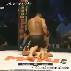 مبارزه علی اکبری با حری...