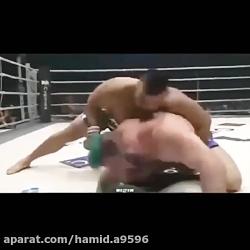 مبارزه قهرمان جهان امیرعلی علی اکبری قهرمان جهان