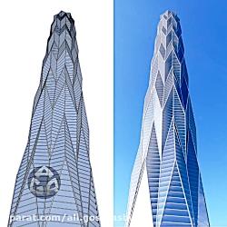 مدلسازی و رندر برج چنگدو گرینلند با استفاده از اسکچاپ و وی ری