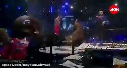 فیلم کامل مبارزه شب گذشته قهرمان بوکس آزاد امیر علی اکبری مقابل خرس لهستان