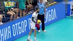 خلاصه بازی ایران 3-0 پورتوریکو (والیبال قهرمانی جهان - 2018)