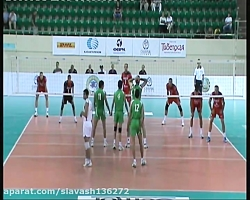 بازی والیبال ایران روس...