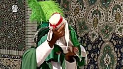 نمایش آئینی روضه حضرت علی اصغر (ع) در حرم مطهر امام رضا علیه السلام