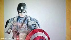 تایم لپس نقاشی کاپیتان ...