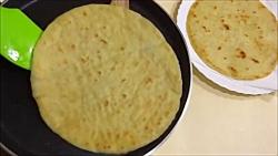 طرز تهیه نان جواری تاوه...