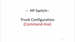HP Switch - Trunk Configuration (Command-line interface)
