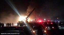 انفجار تانکر سوخت در جا...