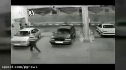 لحظه انفجار پراید در پم...