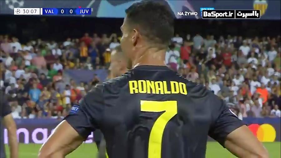 اشک های رونالدو پس از اخراج در بازی مقابل والنسیا