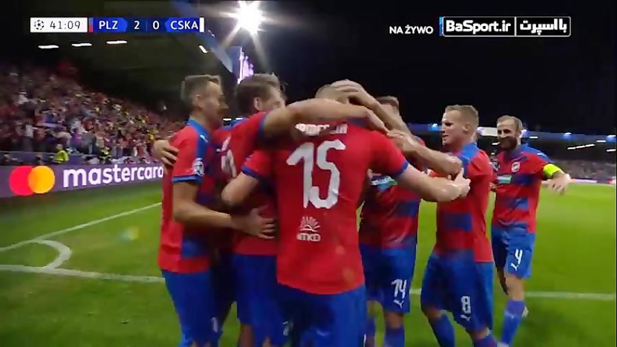گلهای بازی ویکتوریا پلژن 2-2 زسکا مسکو