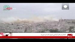 انفجار در هتل کارلتون شهر حلب در سوریه