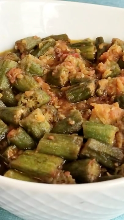 How to cook okra.  طریقه پختن ب...